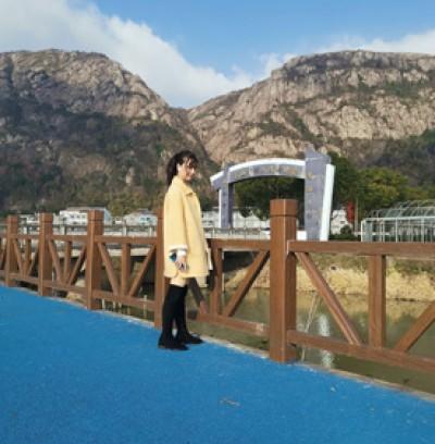 浙江台州透水混凝土,毛山下村美丽乡村彩色透水路面展示
