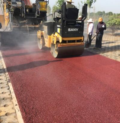 彩色透水沥青项目施工案例
