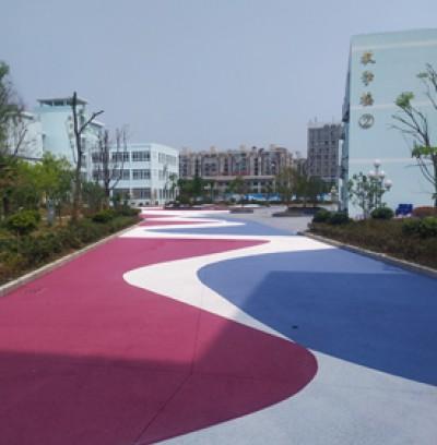 安徽校园彩色透水路面改造