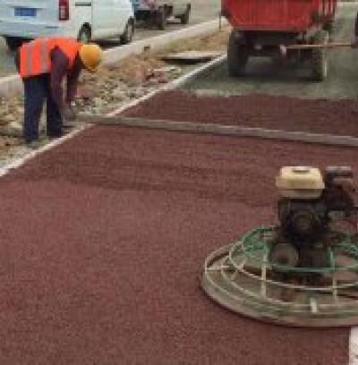 海绵城市透水道路施工现场